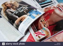 Women Fashion Magazine Spread Pile Stack