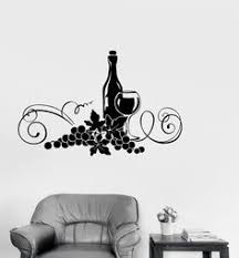 Vinyl Decal Wine Alcohol Drink Kitchen Decor Restaurant Wall Stickers Ig2616