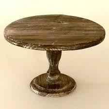 Wooden Cake Pedestal Stand Platter Or Centerpiece Wood Tree