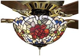 tiffany renaissance 3 light ceiling fan light directional