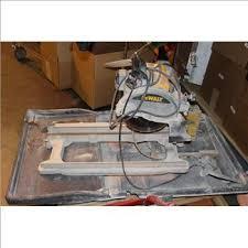 Dewalt Tile Cutter D24000 by Dewalt D24000 Wet Tile Saw Property Room