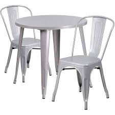 Flash Furniture 30'' Round Silver Metal Indoor-Outdoor Table Set With 2  Cafe Chairs Restaurant Fniture In Alaide Tables And Chairs Cafe Fniture Projects Harrows Nz Stackable Caf Widest Range 2 Years Warranty Nextrend Western Fast Food Cafe Chairs Negoating Tables 35x Colourful Gecko Shell Ding Newtown Powys Stock Photo 24 Round Metal Inoutdoor Table Set With Due Bistro Chair Table Brunner Uk Pink Pool Design For Cafes Modern Background