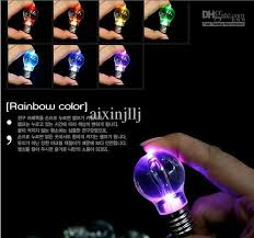 wholesale the colorful light bulb led l key ring keychain
