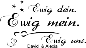 wandtattoo schlafzimmer spruch mit zwei namen ewig dein