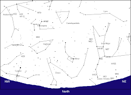 Print Large Sky Charts For 9 Pm EST