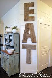 Giant Wooden Eat Kitchen Sign