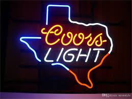 2018 neon sign for coors light custom store lighting display
