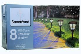 Solar Halloween Pathway Lights by Smartyard Solar Led Large Pathway Lights 8 Pack Walmart Com