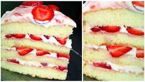 erdbeer sahne torte mit schneller zubereitung einfach