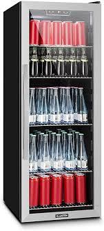 klarstein beersafe minibar mini kühlschrank getränkekühlschrank leise 42 db edelstahl glastür 5 stufiger temperaturregler 3 einschübe