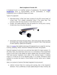 Best Longboard Trucks By Jed T. Martinez - Issuu Best Rated In Longboards Skateboard Helpful Customer Reviews 150mm Bennett Raw 60 Inch Longboard Truck Muirskatecom Bear Grizzly 852 181mm V5 Longboard Trucks Hopkin Skate Ronin Cast Trucks 180mm The Pintail 46 By Original Skateboards 11 Compare Save 2018 Heavycom Got A Madrid Cruiser For My First Board To Ride Around Town Excited Part 1 Cruising Deck Buyers Guide Db Mini Cruiser Good Vibes Urban Surf Pantheons Top Commuting Trip Vs Ember 2015 Windward Boardshop Review 2013 Edition