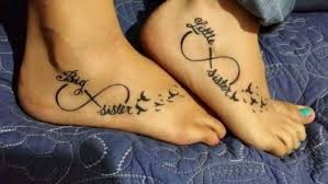 20 Matching Sister Foot Tattoos Ideas Images