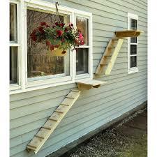 cat stairs cedar cat wall system stair ladder