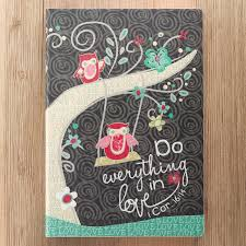 Do Everything In Love Soft LuxLeather Journal W Owls