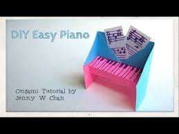 DIY Easy Piano Origami Tutorial Instructions