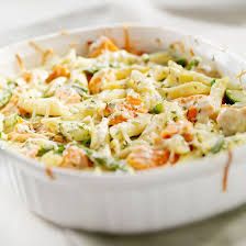 recette gratin de pâtes saumon et brocolis