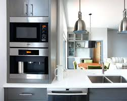Built In Coffee Machines The Black Elements Of Stainless Steel Bodied Machine Work Well With Dark