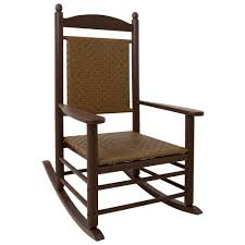 POLYWOOD K147FMATW Tigerwood Jefferson Woven Rocking Chair With Mahogany  Frame Polywood Pws11bl Jefferson 3pc Rocker Set Black Mahogany Patio Wrought Iron Rocking Chair Touch To Zoom Outdoor Cu Woven Traditional That Features A Comfortable Curved Seat K147fmatw Tigerwood With Frame Recycled Plastic Pws11wh White Outdoor Resin Rocking Chairs Youll Love In 2019 Wayfair Wooden All Weather Porch Rockers Vermont Woods Studios