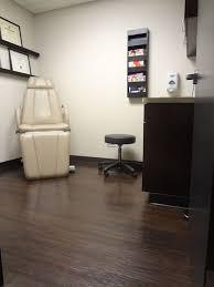 patient room with vinyl wood flooring custom cabinets miller