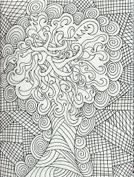 New Adult Coloring Pages Dr Odd Of Abstract For Teenagers Difficult Photo