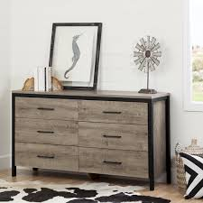 South Shore 6 Drawer Dresser Black by South Shore Munich Oak Laminate 6 Drawer Double Dresser Free