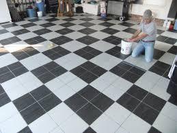 garage floor checkered tiles gallery tile flooring design ideas