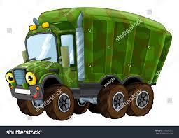 Cartoon Happy Funny Military Truck Isolated Stock Illustration ...