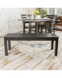 48 Homestead Simple Wood Dining Bench