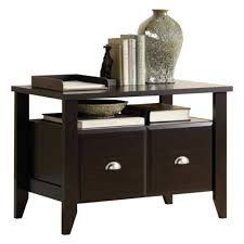 Sauder Shoal Creek Desk Jamocha Wood by Sauder Shoal Creek Utility Stand Jamocha Wood Hayneedle