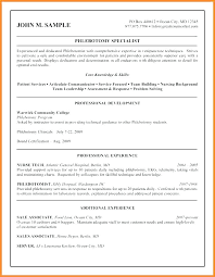 Phlebotomy Resume Sample Also Examples Example Cover Letter Instructor