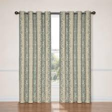 Burgundy Grommet Blackout Curtains by Eclipse Nadya Blackout Smokey Blue Polyester Curtain Panel 95 In