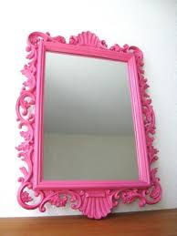 wall mirrors pink framed wall mirror pink wall mirror uk pink