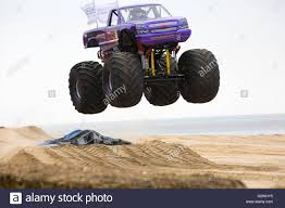 100 Truck Jump Bournemouth Dorset UK 4 June 2016 Slingshot Monster Truck Jumping