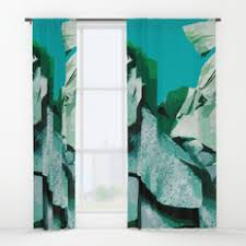 Tropical Window Art Curtains by Bananaleaf Window Curtains Society6