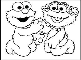 Elmo Christmas Coloring Pages Printable Free Download Cookie Monster