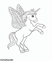 Wings Unicorn Coloring Page