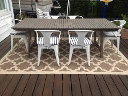 Floor Brown Wooden Deck Design Ideas With Outdoor Rugs Lowes Also