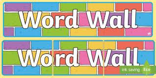 Word Wall Display Banner Colour Bricks