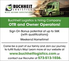 100 Buchheit Trucking Company OTR And Owner Operators Logistics