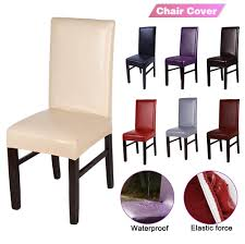 Details About HOT Waterproof PU Leather Chair Protector Slipcover Cover  Dining Chair Covers Us 701 45 Offnew Spandex Stretch Ding Chair Cover Machine Washable Restaurant Wedding Banquet Folding Hotel Zebra Stripped Chairs Covergin Yisun Coverssolid Pu Leather Waterproof And Oilproof Protector Slipcover Black 4 Pack 100 Room Navy Blue And White Unique Bargains Removable Short Slipcovers Nanpiperhome Elegant Elastic Universal Home Decor Searching Perfect Check Search Faux By Surefit Classic Cabana Stripe Long Covers Set Of 2 Ltplaza Modern Seat 4pcsset Damask Operi