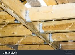 100 Cieling Beams Ceiling Floors Wooden Frame House Stock Photo Edit
