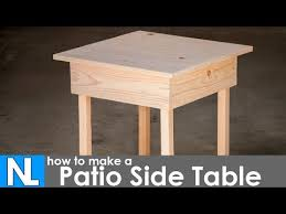 Make Outdoor End Table by Making A Patio Side Table Diy Woodworking Simple Youtube