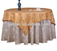 Polyester Tablecloth Overlay Underlay Home Textile Wedding Table Linens
