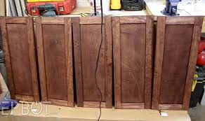 Thermofoil Cabinet Doors Vs Wood by Building Cabinet Doors Cabinet Diy Plywood Kitchen How To Build