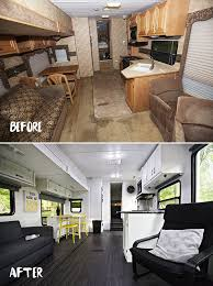 Before After Pictures Of The RV Renovation We Did On Our Laredo Fifth Wheeler