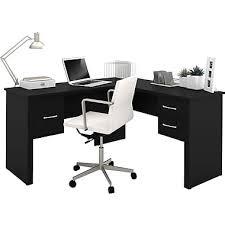 Bestar L Shaped Desk by Bestar Somerville L Shaped Desk Black Staples