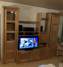 massivholz wohnzimmer komplett holz home wohnwand tv