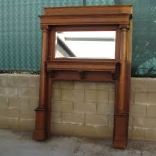 Tiger Oak Dresser With Mirror by Antique Fireplace Mantel Antique Victorian Tiger Oak Mantel