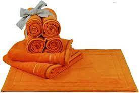 wohndirect bad set 7tlg duschvorleger x1 handtuch x4 badetuch x2 100 baumwolle handtuch badematten frottee