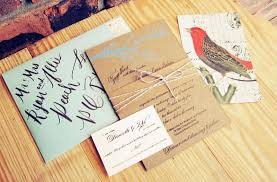 Rustic Blue Brown Wedding Invitation Twine Suite